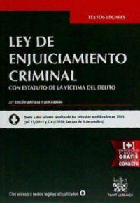 (22ª ED) LEY DE ENJUICIAMIENTO CRIMINAL CON ESTATUTO DE LA VICTIMA DEL DELITO