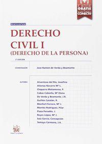 (2 Ed) Derecho Civil I - Derecho De La Persona - Josefina Alventosa Del Rio / Maria Luisa Atienza Navarro / Pedro Chaparro Matamoros