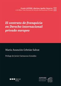 CONTRATO DE FRANQUICIA EN DERECHO INTERNACIONAL PRIVADO EUR
