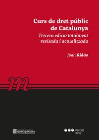 (3 ED) CURS DE DRET PUBLIC DE CATALUNYA