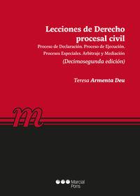 LECCIONES DERECHO PROCESAL CIVIL 2019