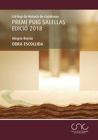 OBRA ESCOLLIDA (PREMI PUIG SALELLAS 2018)