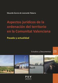 ASPECTOS JURIDICOS DE LA ORDENACION DEL TERRITORIO EN LA COMUNITAT VALENCIANA - PASADO Y ACTUALIDAD