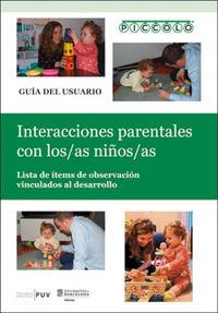 PICCOLO - INTERACCIONES PARENTALES CON LOS / LAS NIÑOS / NIÑAS - LISTA DE ITEMS DE OBSERVACION VINCULADOS AL DESARROLLO