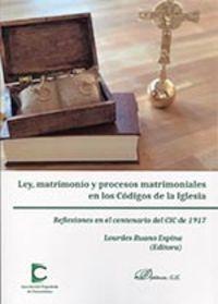 LEY MATRIMONIO Y PROCESOS MATRIMONIALES EN LOS CODIGOS DE LA IGLESIA