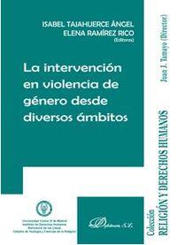 INTERVENCION EN VIOLENCIA DE GENERO DESDE DIVERSOS AMBITOS, LA
