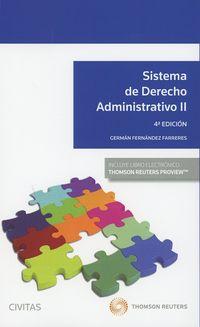 (4 ED) SISTEMA DE DERECHO ADMINISTRATIVO II (DUO)