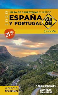 2020 - EL GUION - MAPA DE CARRETERAS ESPAÑA Y PORTUGAL 1: 340.000