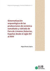 SISTEMATIZACION ARQUEOLOGICA DE LAS PRODUCCIONES DE CERAMICA ESMALTADA Y VIDRIADA DE FARO DE LIMANES (ASTURIAS, ESPAÑA) DESDE EL SIGLO XVI AL XVIII
