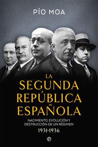SEGUNDA REPUBLICA ESPAÑOLA, LA - NACIMIENTO, EVOLUCION Y DESTRUCCION DE UN REGIMEN (1931-1936)