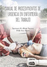 Manual De Procedimientos De Urgencias En Enfermeria - Esperanza Alonso Jimenez