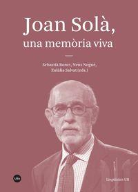 Joan Sola, Una Memoria Viva - Aa. Vv.