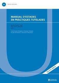 (4 ED) MANUAL D'ESTADES EN PRACTIQUES TUTELADES