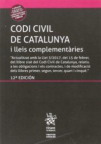 (12 ED) CODI CIVIL DE CATALUNYA I LLEIS COMPLEMENTARIES