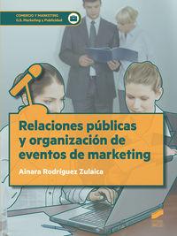 GS - RELACIONES PUBLICAS Y ORGANIZACION DE EVENTOS DE MARKETING