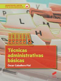FPB - TECNICAS ADMINISTRATIVAS BASICAS - SERVICIOS ADMINISTRATIVOS