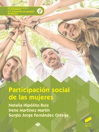 GS - PARTICIPACION SOCIAL DE LAS MUJERES - PROMOCION DE IGUALDAD DE GENERO
