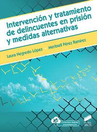 Intervencion Y Tratamiento De Delincuentes En Prision Y Medidas Alternativas - Laura Negredo Lopez / Meritxell Perez Ramirez