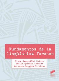 FUNDAMENTOS DE LA LINGUISTICA FORENSE