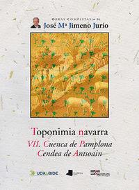 Toponimia Navarra Vii - Cuenca De Pamplona. Cendea De Antsoain - Jose Maria Jimeno Jurio