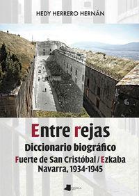 ENTRE REJAS - DICCIONARIO BIOGRAFICO. FUERTE DE SAN CRISTOBAL / EZKABA. NAVARRA, 1934-1945