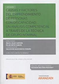 CAUSAS Y FACTORES DEL EMPRENDIMIENTO DE PERSONAS CON DISCAPACIDAD - UN ANALISIS COMPETENCIAL A TRAVES DE LA TECNICA DE GRUPO NOMINAL (DUO)