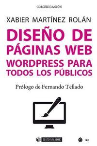 Diseño De Paginas Web - Wordpress Para Todos Los Publicos - Xabier Martinez Rolan