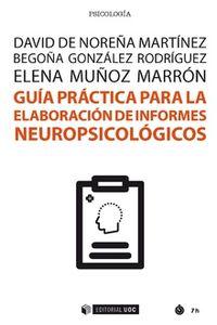 GUIA PARA LA ELABORACION DE INFORMES NEOROPSICOLOGICOS