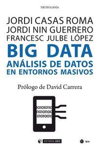 BIG DATA ANALISIS DE DATOS EN ENTORNOS MASIVOS