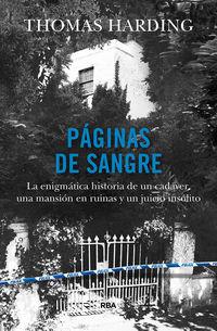 Paginas De Sangre - Thomas Harding
