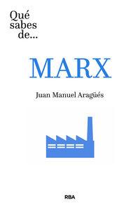 Que Sabes De Marx - Juan Manuel Aragees