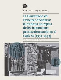 LA CONSTITUCIO DEL PRINCIPAT D'ANDORRA
