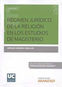REGIMEN JURIDICO DE LA RELIGION EN LOS ESTUDIOS DE MAGISTERIO (DUO)