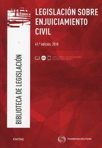 (41 Ed) Legislacion Sobre Enjuiciamiento Civil (duo) - Aa. Vv.