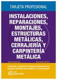 INSTALACIONES, REPARACIONES, MONTAJES, ESTRUCTURAS METALICAS,