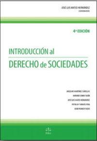 (4 ED) INTRODUCCION AL DERECHO DE SOCIEDADES