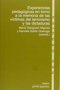 EXPERIENCIAS PEDAGOGICAS EN TORNO A LA MEMORIA DE LAS VICTIMAS