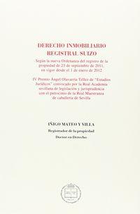 DERECHO INMOBILIARIO REGISTRAL SUIZO