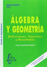 ALGEBRA Y GEOMETRIA - DEFINICIONES Y TEOREMAS