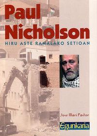 PAUL NICHOLSON HIRU ASTE RAMALAKO SETIOAN