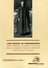 (PACK 2) J. M. BARANDIARAN - DIARIO PERSONAL (1917-1936)