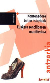 KONTENEDORE BATEN ISTORIOAK - EUSKERA SENCILLOAREN MANIFIESTOA