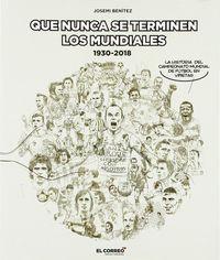 QUE NUNCA SE TERMINEN LOS MUNDIALES (19301-2018) - LA HISTORIA DEL CAMPEONATO DEL MUNDO DE FUTBOL EN VIÑETAS