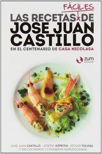 Recetas Faciles Jose Juan Castillo, Las - En El Centenario De La Casa Nicolasa - Jose Juan Castillo / [ET AL. ]