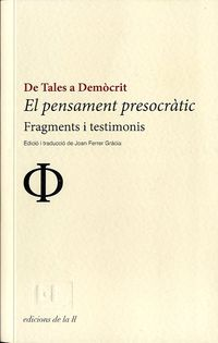 PENSAMENT PRESOCRATIC DE TALES A DEMOCRIT