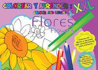 COLOREAR Y APRENDER - FLORES (ESP / ING)
