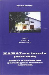 Zabalen Isuria (1973-1976) - Paulo Iztueta