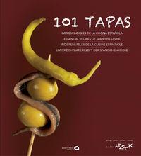101 TAPAS - IMPRESCINDIBLES DE LA COCINA ESPAÑOLA (ESP / FRA / ING / ALE)
