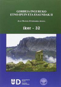 GORBEIA INGURUKO ETNO-IPUIN ETA ESAUNDAK II