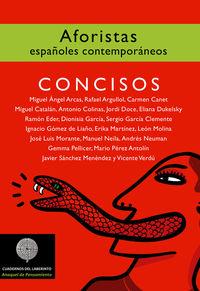 CONCISOS - AFORISTAS ESPAÑOLES CONTEMPORANEOS